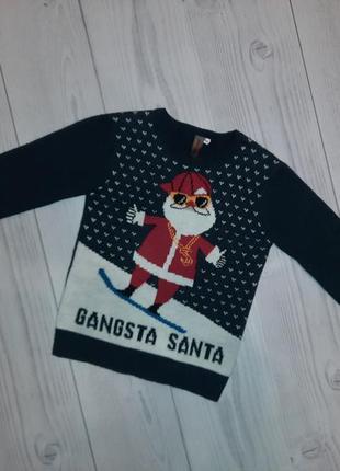 Теплый новогодний свитер