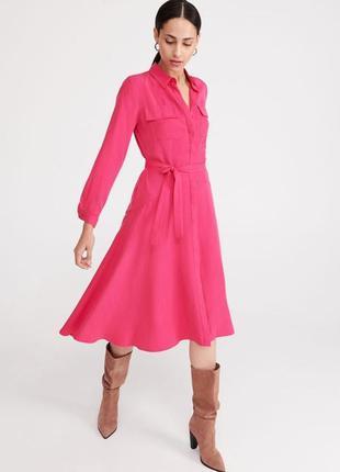 Круте плаття сорочка reserved малинове