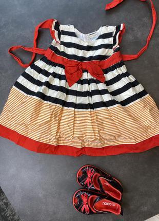 Нарядное платье laura ashley 1-2 года