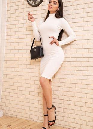 Базовое демисезонное женское платье гольф платье-гольф однотонное женское платье из хлопка хлопковое женское платье на осень приталенное платье