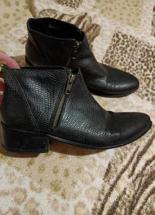 Ботинки 26,5,см натуральные