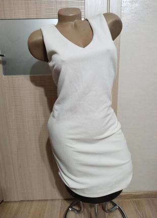 Акция 1+1=3🤩🤑базовое белое платье mango