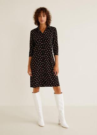 Платье рубашка mango стильное