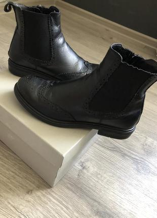 Ботинки кожаные/челси натуральная кожа