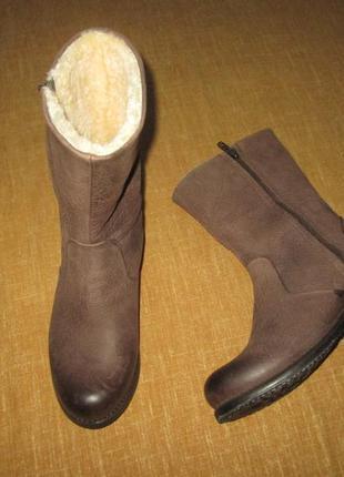 Кожаные зимние ботинки сапоги на натуральном меху blackstone