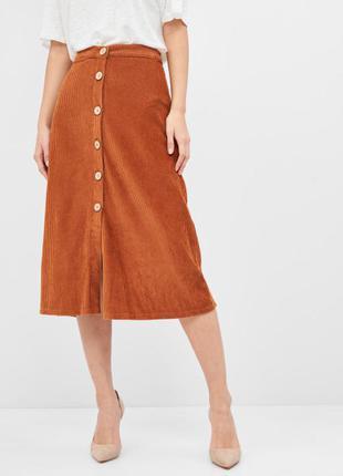 Вельветовая юбка pull&bear размер s