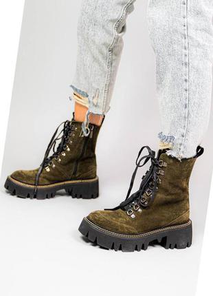 Шикарные ботинки натуральная замша