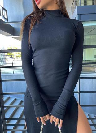 Платье с вырезом (2 расцветки)