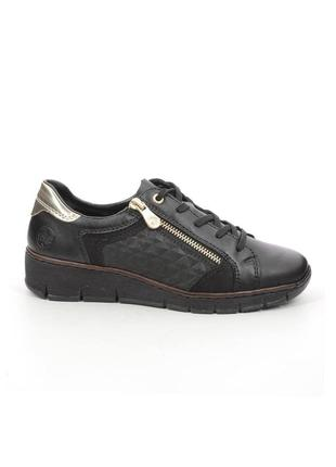 Оригінальні чорні жіночі кросівки rieker (53703/00)