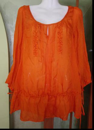 🌺 🌿 🍃 блуза натуральная ткань р.50 🍃 🌺 🌿
