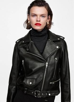 Куртка из искусственной кожи zara 🔥