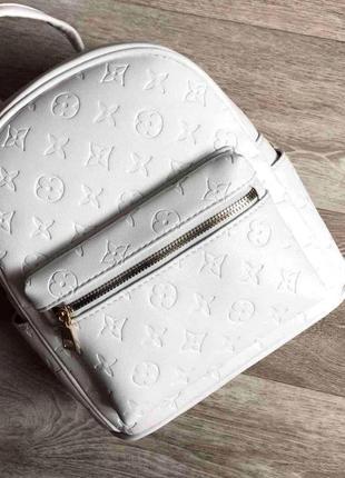 Женский рюкзак в стиле луи витон эко кожа aliri-00254 белый
