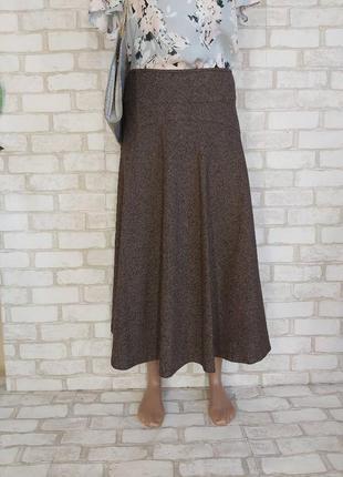 Новая сдержаная юбка миди в сочном коричневом цвете с пышным низом, размер л-хл
