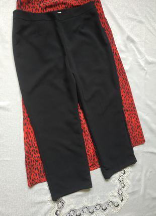Брюки на подкладе базовые черные брюки