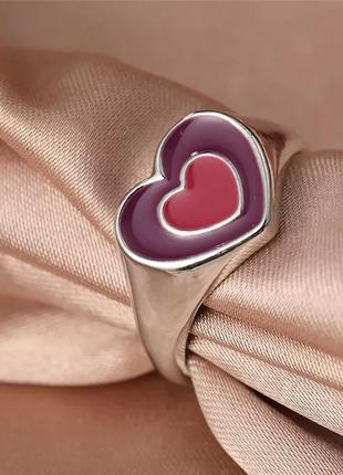 Кольцо сердце цветное колечко сердечки разноцветные