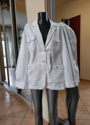 Стильный 💯%котоновый с карманами жакет большого размера