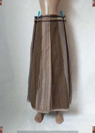 Фирменная per una юбка в пол/длинная юбка со 100 % хлопка в полосы, размер л-хл