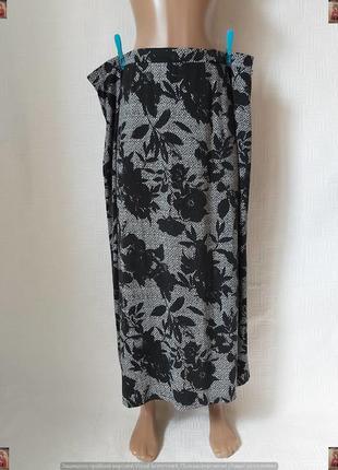 Фирменная bonmarche длинная юбка/юбка в пол на 95% вискоза в цветах, размер 5хл-6хл