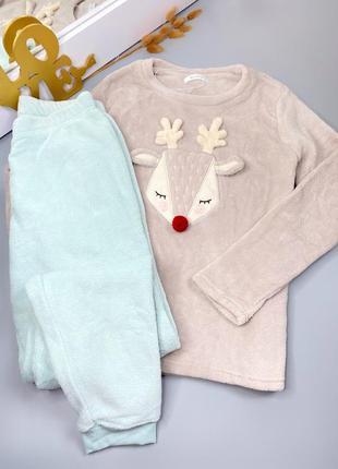 Пижама  тёплая комплект сборный love to lounge новая аутлет