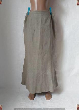 Новая длинная юбка в пол/длинная юбка годе на 55%лен и 45%вискоза, размер л-ка