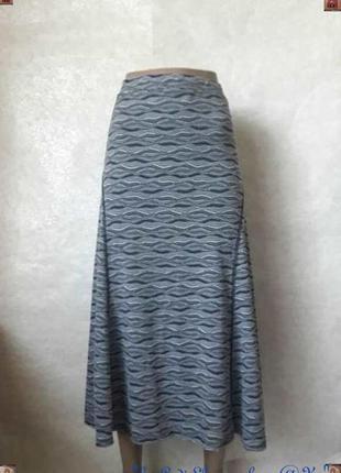 Фирменная per una длинная юбка в оригинальный орнамент с подкладкой, размер 3-4хл