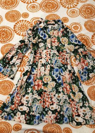Платье zara babydoll вискоза xs