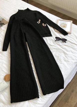 Костюм штаны палаццо и кофта свитер шерсть