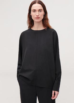 Очень стильная кофта/свитер. шерсть+ трикотаж.