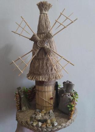 Декоративная мельница, сувенир оберег для дома или работы