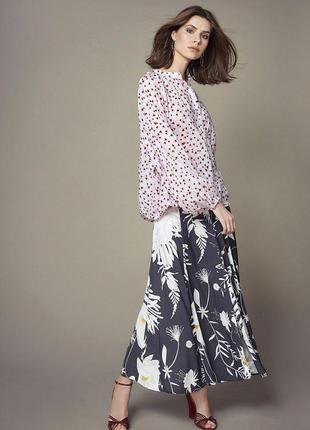 Anna glover h&m блузка оверсайз  из лиоцелла  цветочный принт /5810/