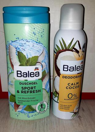 Набор кокос balea: гель для душа 300 мл + дезодорант 200 мл