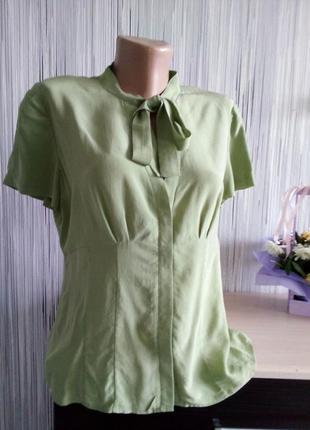 Шелковая офисная блузка