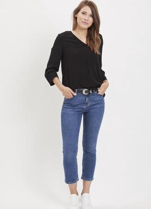 Нарядная черная блуза с v-образным вырезом от .object