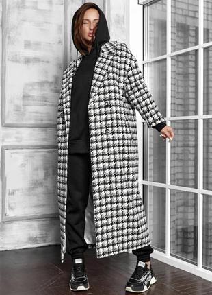 Пальто шерстяное в стиле zara