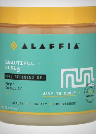 Гель для кудрявых и волнистых волос alaffia, кастард, желе, крем для волос alaffia