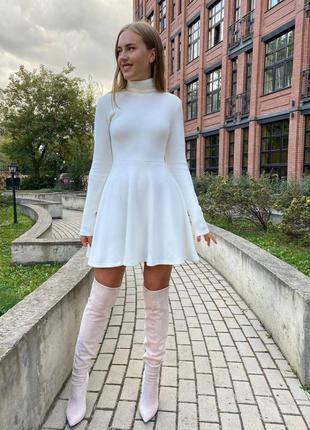 Платье расклешенное, фото реал ❤️ двусторонняя ангора