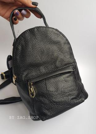 Изящный женский кожаный городской рюкзак🖤на каждый день рюкзак черный натуральная кожа