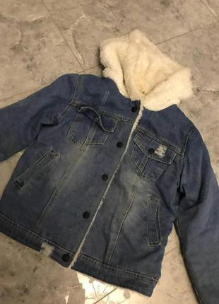 🆘🔥последняя цена до 30 сентября 🆘🔥 модная джинсовая куртка с мехом кежуал