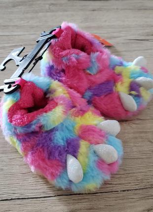 Тапочки слипы слипоны шлепки disney для девочки єдиноріг единорог оригинал сша