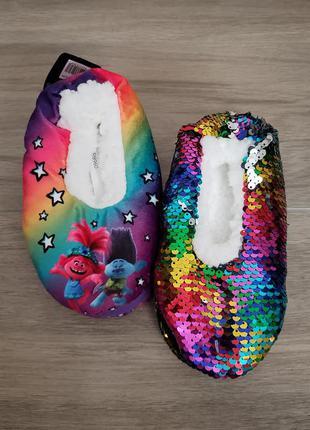 Тапочки слипы слипоны шлепки disney для девочки trolly тролли оригинал сша