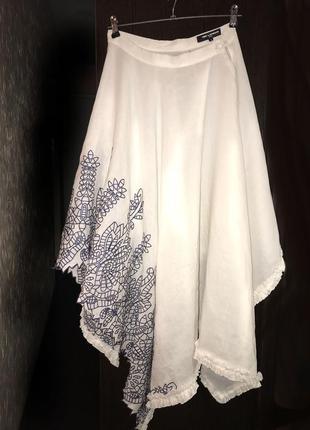 Ted lapidus льняная юбка (винтаж)