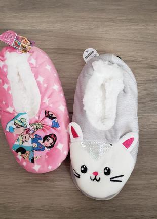 Тапочки слипы слипоны  disney котик принцесса   оригинал сша