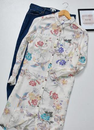 Sale marks&spencer красивое платье рубашка,легкое с принтом