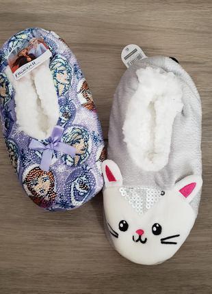 Тапочки слипы слипоны disney котик принцесса ельза  оригинал сша