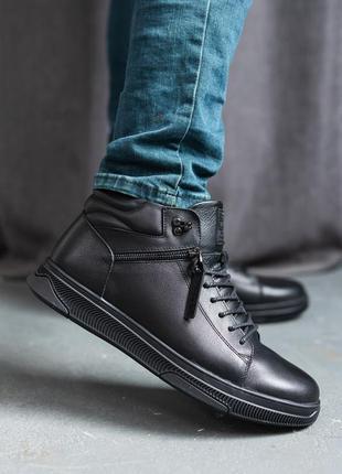 В наличии натуральная кожа 🙂 ботинки зимние 36-41р