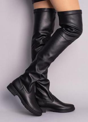 Женские кожаные ботфорты, жіночі шкіряні ботфорти