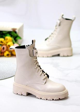 Бежевые демисезонный ботинки челси