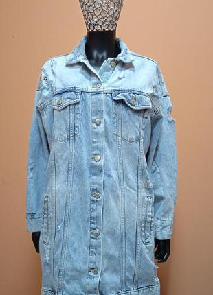 Pull&bear стильный джинсовый тренч,куртка,пальто