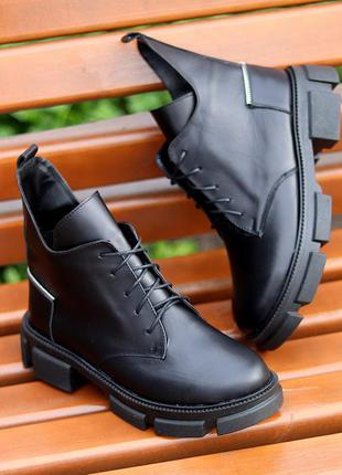 Идеальные женские ботинки! кожа