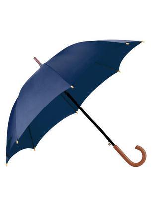 Зонт зонтик трость однотонный большой синий мужской женский парасолька парасоля жiноча чоловiча